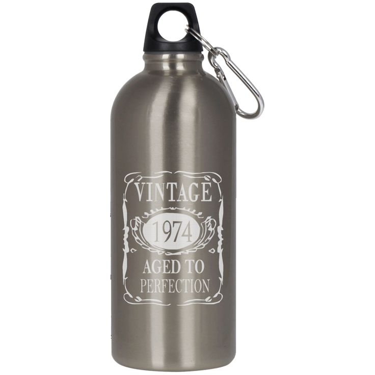 40TH BIRTHDAY VINTAGE 1974 BY354354 23624 Stainless Steel Silver Water Bottle