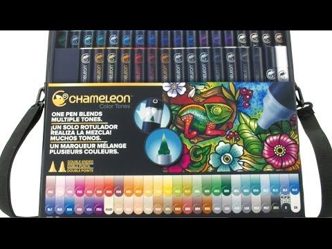 Chameleon Pens are an alcohol based marker system that allows you to change color at the source! Inks are refillable, nibs are replaceable. Chameleon Pens- simple, seamless, one pen blends