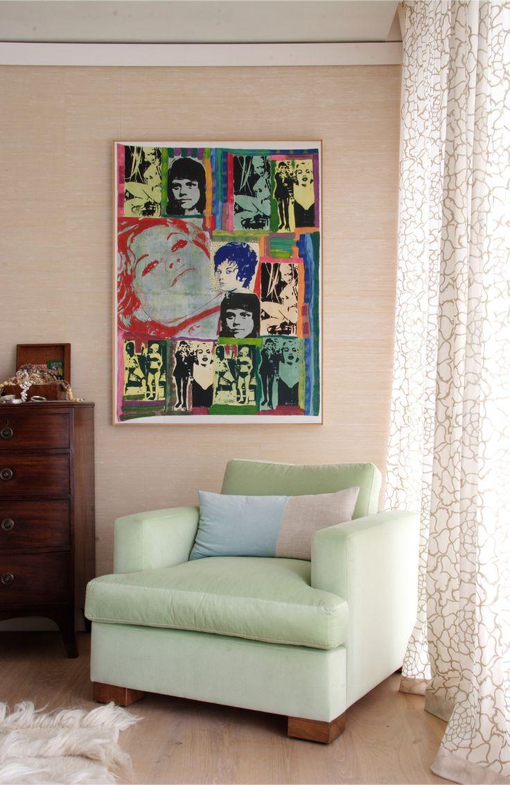 Stunning Marimekko sheer with linen hem