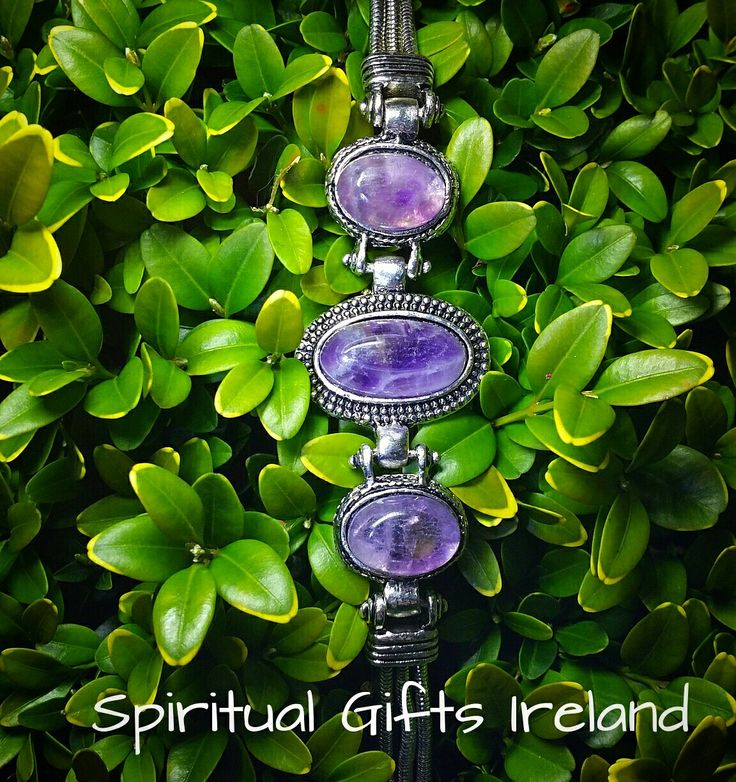 How stunning is our amethyst bracelet. Handmade with 3 stones. Amethyst is the stone of spirituality and peace of mind. It's striking purple colour evokes feelings of calmness and contentment, reducing stress and restoring you to emotional stability and balance. This bracelet is a perfect gift for busy overworked individuals who suffer with tension, headaches, stress and anxiety. Follow us on : www.facebook.com/spiritualgiftsireland  www.instagram.com/spiritualgiftsireland…