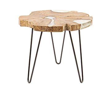 Столик Frio - металл - текстура дерева - В48хШ55хД55