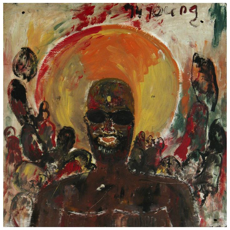 Purvis Young (1943-2010) | Issac Hayes (with halo)