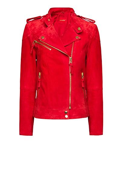 MANGO - Suede biker jacket