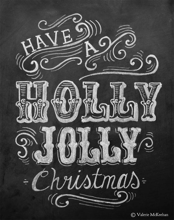 Have a Holly Jolly Christmas Rustic Christmas by LilyandVal