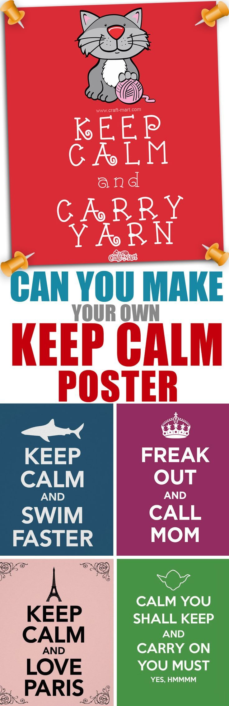 How can you make your own keep calm poster? very easy - just read the article with loads of funny variations and see the list of Keep Calm poster makers online. #keepcalm #posterdesign #posters