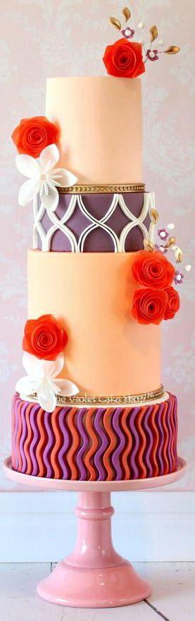 Modern Decor Inspired Wedding Cake