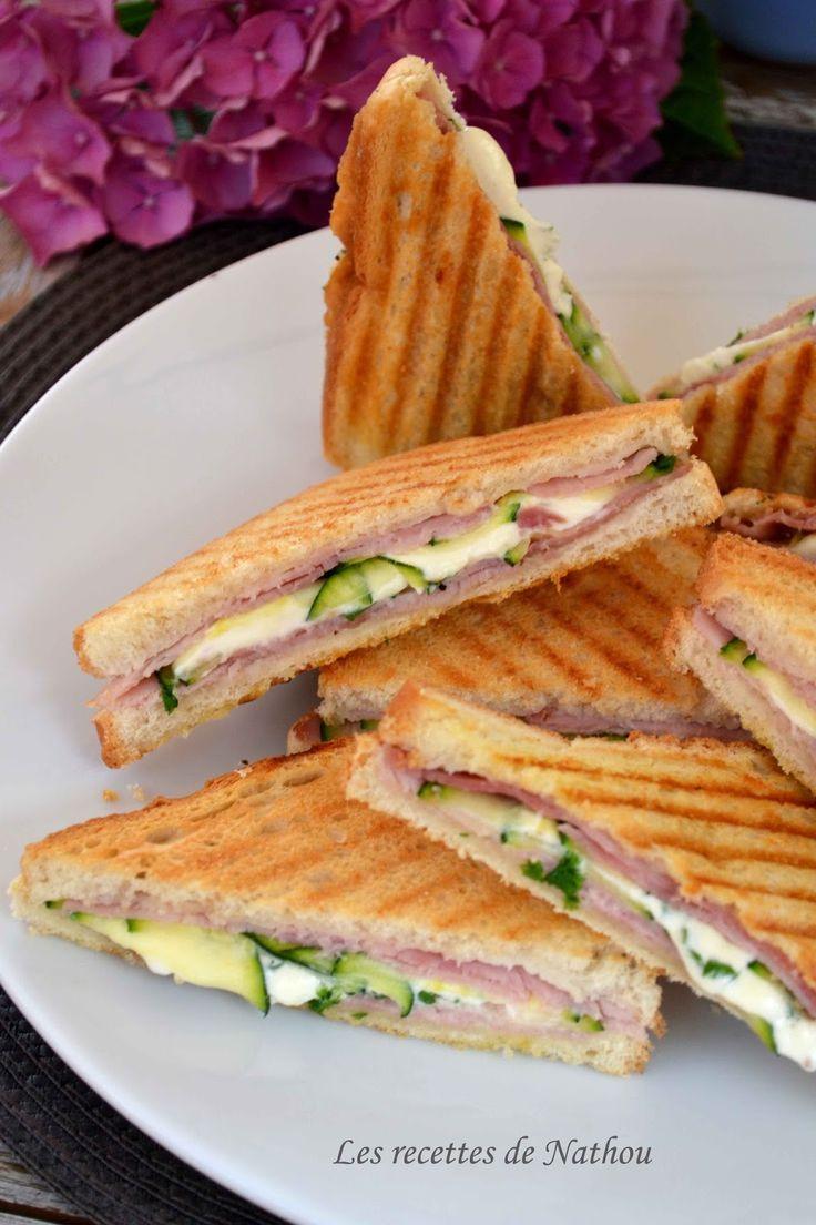 Les recettes de Nathou: Croques courgettes et persil, jambon et fromage frais Kiri