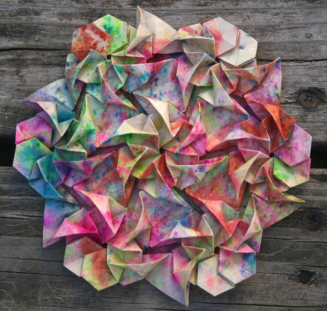 Origami Tessellation Art by Joel Cooper via redesignrevolution Paper Origami Tesselation Joel_Cooper