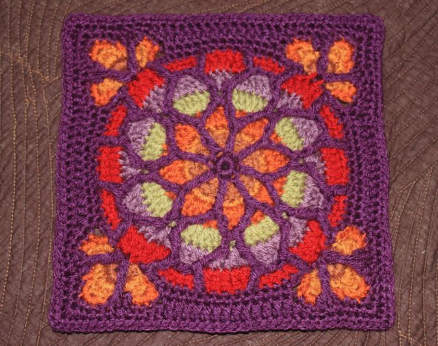 Crochet Pattern Stained Glass Afghan