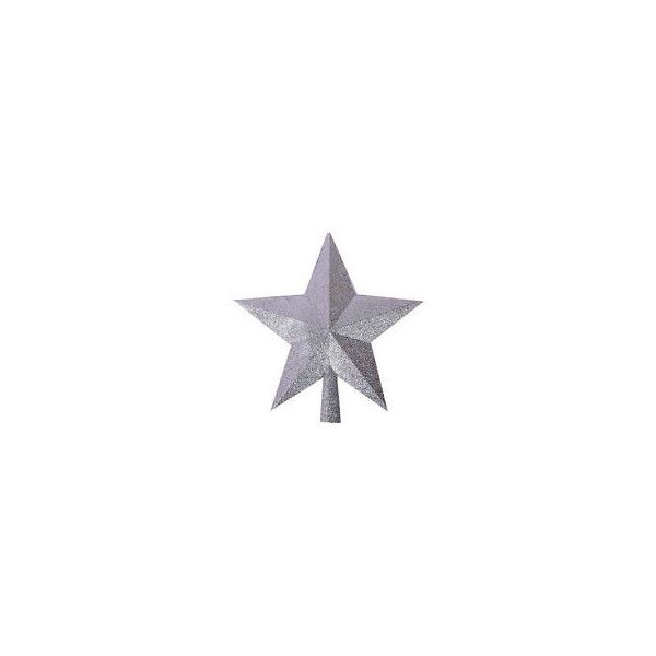 NEW Christmas Tree Topper Star XMAS Tree Topper Ornament Decor SILVER... ❤ liked on Polyvore featuring home, home decor, holiday decorations, holiday decor, silver star tree topper, holiday christmas ornaments, star ornaments and xmas ornaments