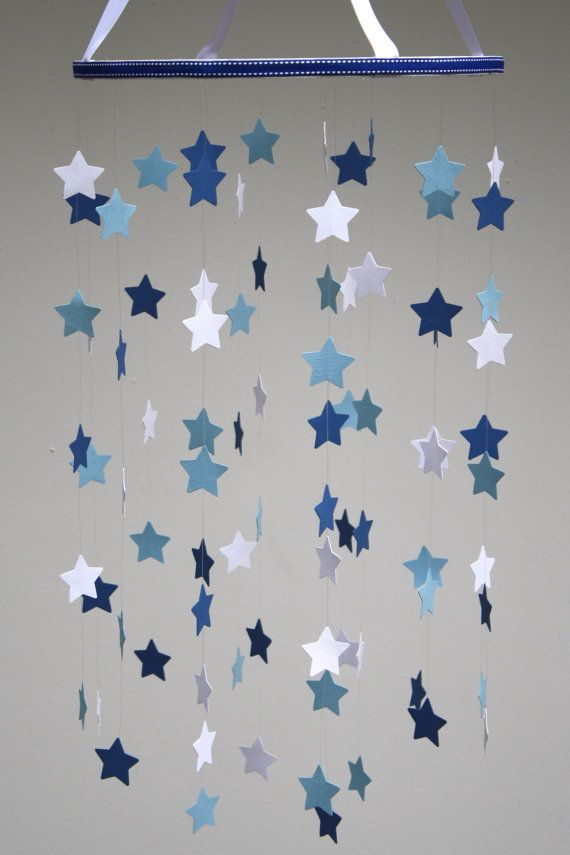 Baby Mobile  Star Mobile  Nursery Mobile in Royal by BabyJayDecor, $55.00