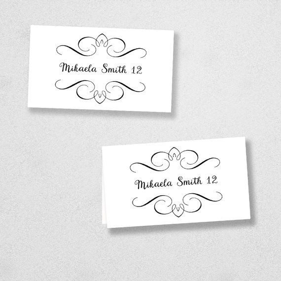 Best  Place Card Template Ideas On   Diy Wedding