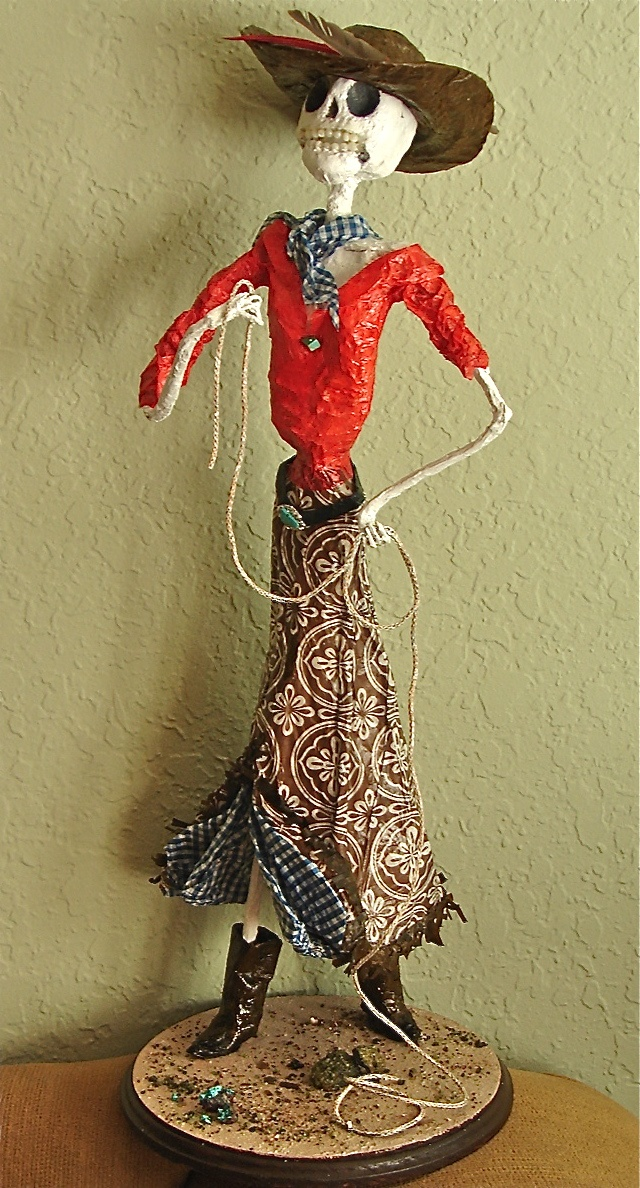 Unique jewelry and custom artistic creations from my friend Barbara Duff, like this custom catrina