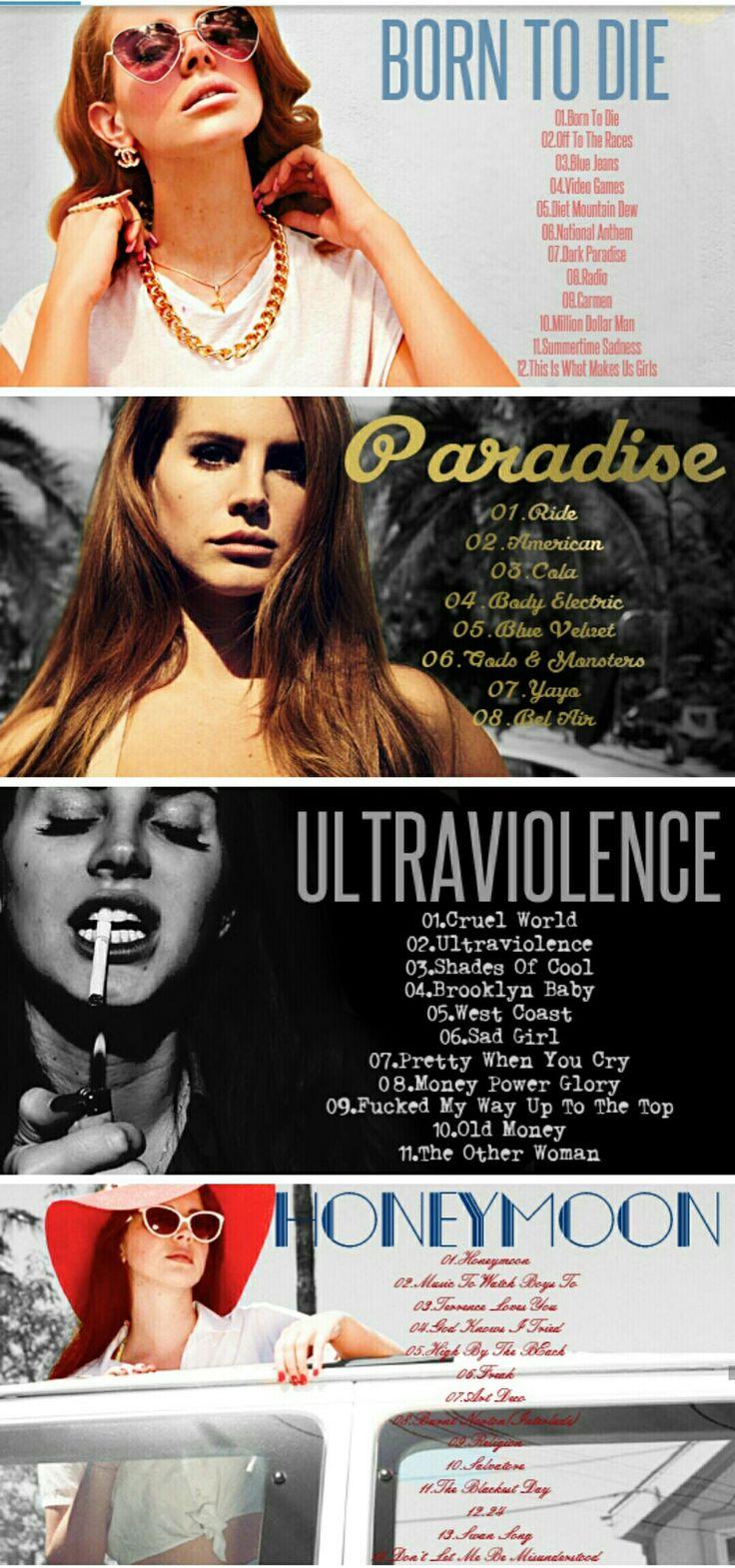 Lana Del Rey + albums #LDR #discography