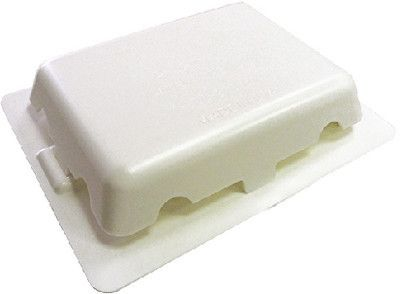 """Dr. Shrink 4"""" x 5"""" white weather-tight s/a vent"""