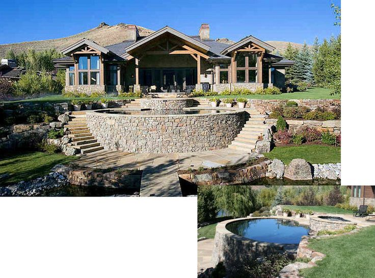 343 curated exterior landscaping ideas by combsaj for Pool design hillside
