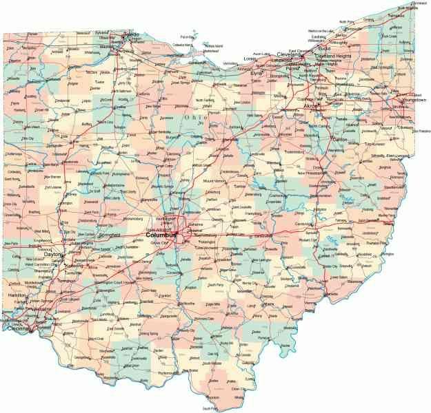 The Best Map Of Ohio Ideas On Pinterest Map Of Cleveland - United states map ohio
