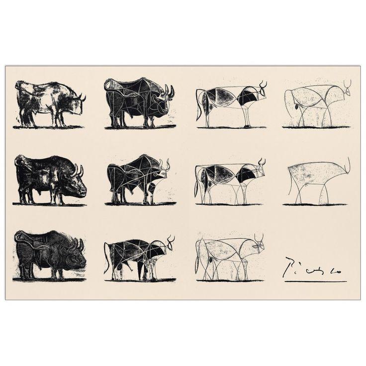 PICASSO - Le taureau 92x61 cm #artprints #interior #design #art #print #animals  Scopri Descrizione e Prezzo http://www.artopweb.com/EC17237