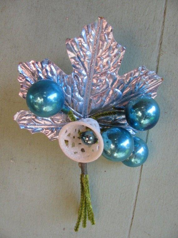 Best vintage blue christmas images on pinterest
