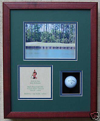 Hole in One Golf Trophy Shadow Box for Golf Ball | eBay