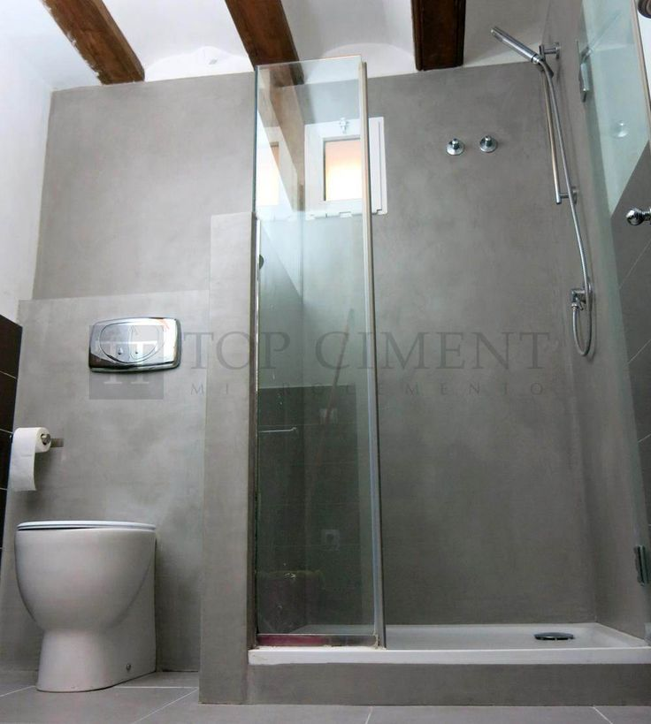 Baño En Microcemento:Foto de la renovación de un baño con microcemento en zonas humedas