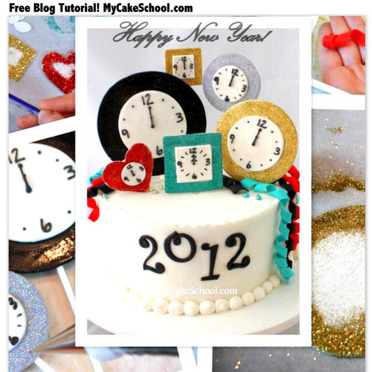 The PERFECT Cake Design for New Year's Eve! Free Cake Decorating Tutorial by MyCakeSchool.com!