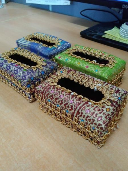 Kotak Tissue Motif Songket Palembang