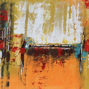 abstracto teja y mostaza