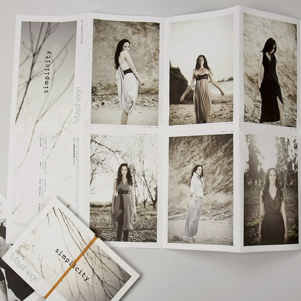 Branding - Maya Negri - designer fashion brand by Anna Geslev Studio, via Behance