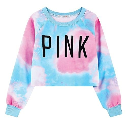 OMG I love the pastel colors of this Tie Dye Pink Sweater. I think it is perfect for school and beyond. (Fall outfits, sweater outfits for teens)