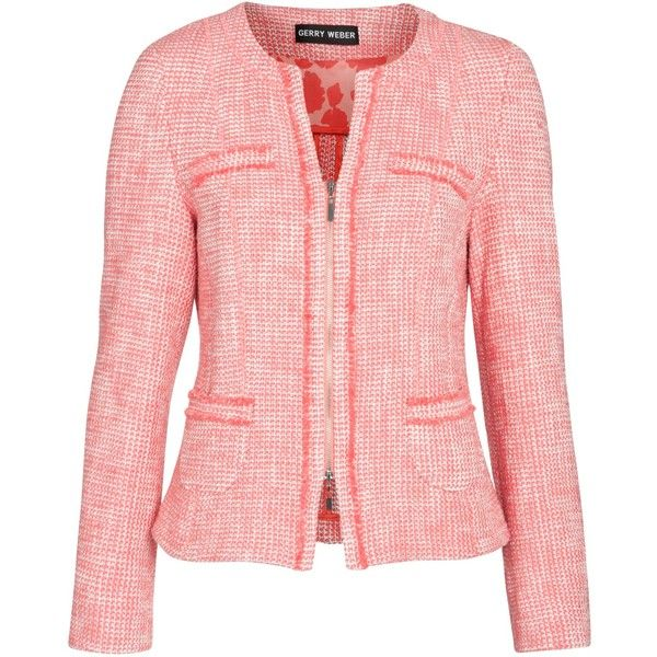 Gerry Weber Boucle Jacket, Coral ($270) via Polyvore