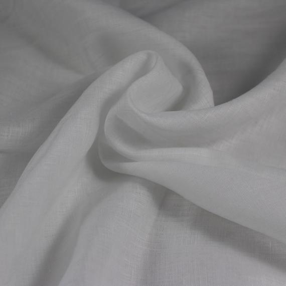 Lightweight 100 Linen Fabric For Curtains Dressmaking Semi Sheer Voile In White Per Metre Linen Fabric Curtain Fabric Fabric Sale