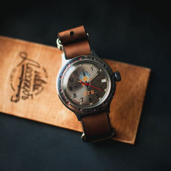 Mens watch Vostok amphibia – vintage mechanical men watch – KGB watch - watch mens – vintage mens watch – gift for him 80s