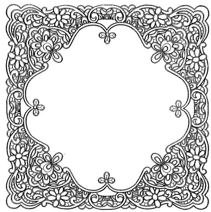 Ubrus čtverec Richelieu 77 x 77 cm