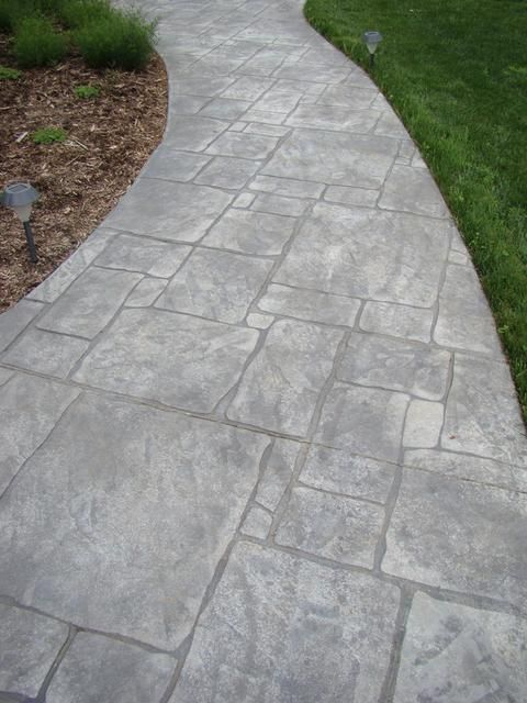 Images Of Stamped Concrete Patios: Stamped Concrete Walkways