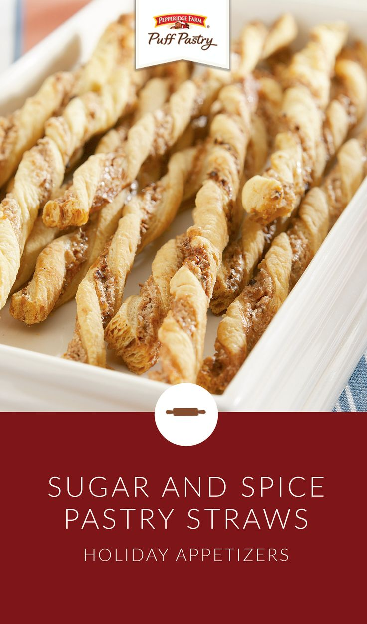 Are you looking for a unique appetizer or dessert recipe that you can serve at all of your family parties this holiday season? Check out these Sugar and Spice Pastry Straws. Made with Pepperidge Farm® Puff Pastry Sheets, sugar, cinnamon, and pecans, this tasty recipe is sure to be a crowd pleaser.