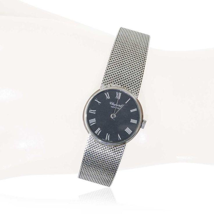 Schweizer Damenuhr CHOPARD mit Milanese Weissgold Armband   Luxus Armbanduhr