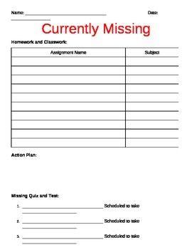 The 25+ best Missing homework ideas on Pinterest   Missing work ...