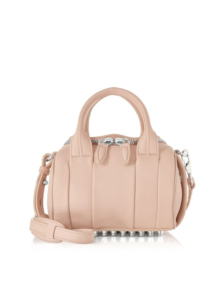Александр Ван мини Rockie бледно-розовый Шагреневой кожи сумка на обувь