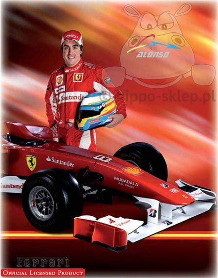 Ferrari Alonso flece blanket with F1 one of the best driver