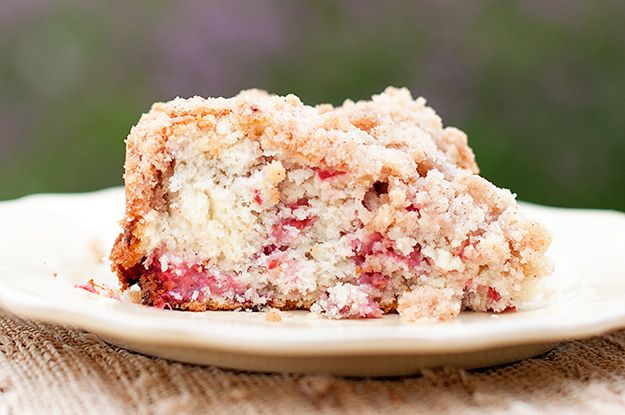 Raspberry Coffee Cake with Cinnamon Streusel Topping  ...we'll see how it turns out with gluten-free flour in approximately 30 minutes...