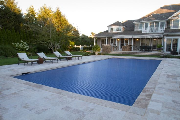 Covertech automatic rigid illuminated safety pool cover love the porch with retractable awning for Retractable swimming pool covers
