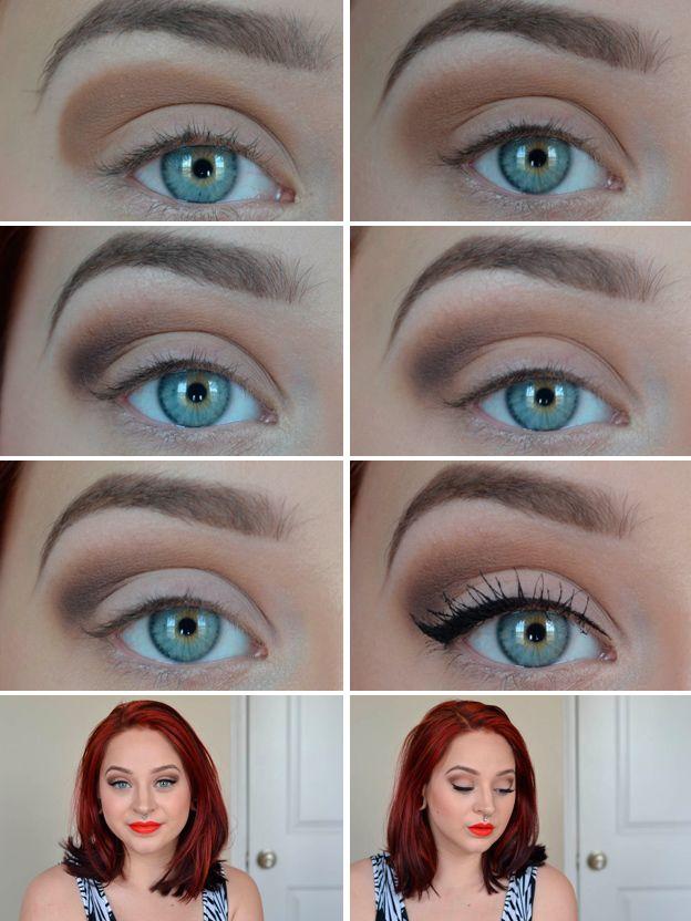 Daily neutral eye makeup idea or blue eyes