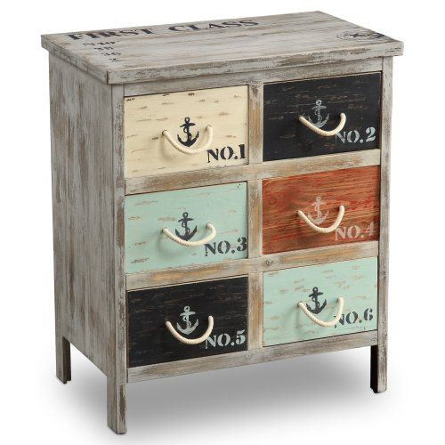 This could easily be done as a DIY with paint and rope. CUTE!  Southport Accent Chest