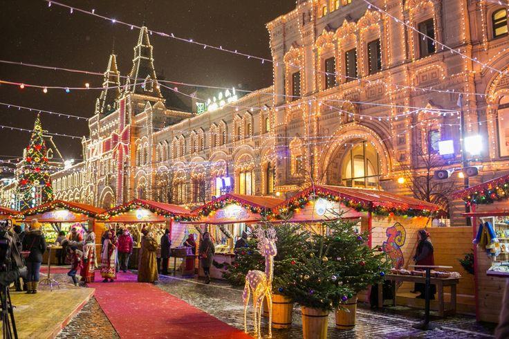 Самые красивые места зимней Москвы Москва 2015