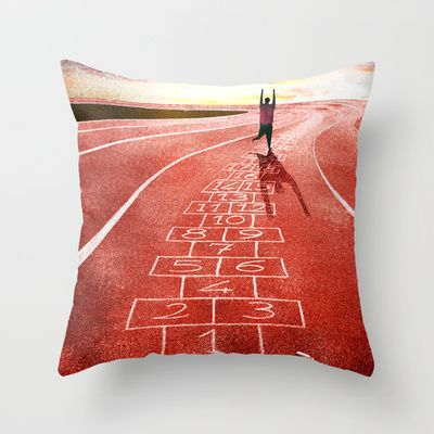In+forma+con+i+numeri+Throw+Pillow+by+Francesca+Cosanti+-+$20.00