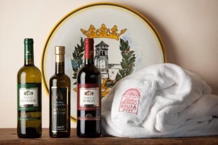 Olio e vino di Borgobrufa...anche questo è #benessere!