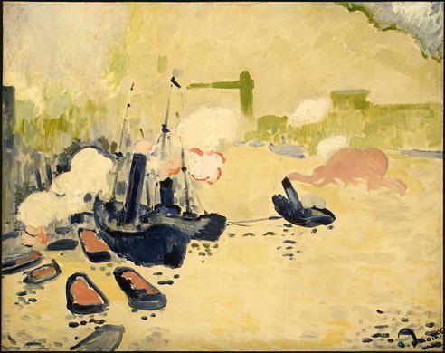 'Blick auf die Thames', wasserfarbe von André Derain (1880-1954, France)