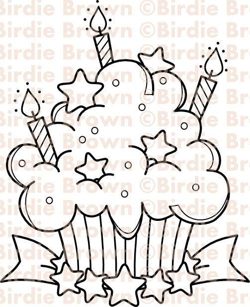 Digital stamp -- Cupcake - Star
