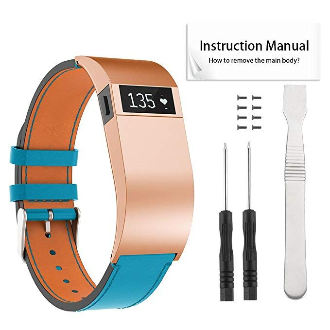 Topopo For Fitbit Charge Hr Bands Leather Replacement Bands Strap With Tools For Fitbit Charge Hr Review Fitbit Charge Hr Fitbit Charge Hr Bands Fitbit